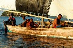 Melanesian inwoners van Papoea-Nieuw-Guinea Stock Afbeelding