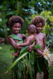 Melanesian kinderen Stock Foto