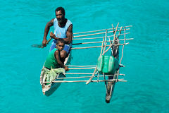 Melanesian people of Papua New Guinea Stock Photos