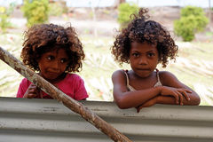 Melanesian people of Papua New Guinea Stock Images