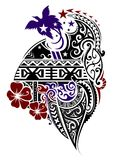Melanesian style tattoo Royalty Free Stock Photos