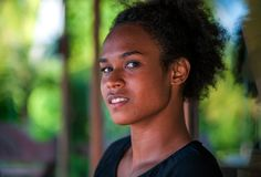 Melanesian vreedzame eilandbewoner stock fotografie