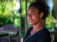 Melanesian vreedzame eilandbewoner royalty-vrije stock afbeelding