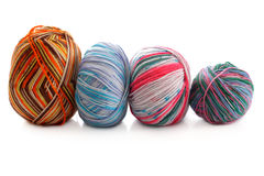 Melange few balls of wool Stock Photo
