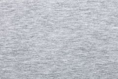 Melange jersey knit fabric pattern. Real heather grey knitted fabric made of synthetic fibres textured background Stock Photo
