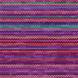 Melange knitted seamless pattern Stock Photos