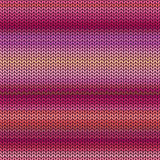 Melange knitted seamless pattern Royalty Free Stock Image