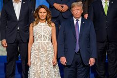 Melania Trump and Donald Trump royalty free stock photo