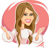 Melania Trump Vector Caricature Illustration. Vector  cartoon of the American First Lady Royalty Free Stock Photos