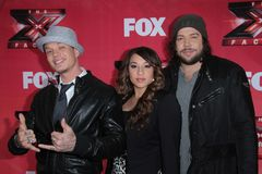 Melanie Amaro, Chris Rene, Josh Krajcik Stock Photo