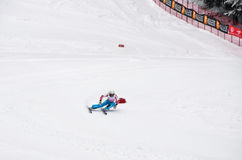 Melanie Burgener Speed Carving World Champion 2011 Royalty Free Stock Images