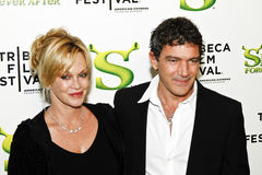 Melanie Griffith; Antonio Banderas. NEW YORK - APRIL 21: Actors Melanie Griffith and Antonio Banderas attend the Shrek Forever After premiere during the 2010 Royalty Free Stock Photography