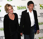 Melanie Griffith and Antonio Banderas Stock Photos