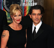 Melanie Griffith and Antonio Banderas. Actress Melanie Griffith joins her husband, actor Antonio Banderas on the red carpet in front of Radio City Music Hall in Royalty Free Stock Images