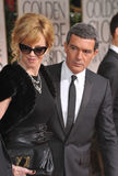 Melanie Griffith, Antonio Banderas Stock Images