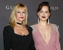 Melanie Griffith and Dakota Johnson. At the 2017 LACMA Art Film Gala held at the LACMA in Los Angeles, USA on November 4, 2017 Stock Image