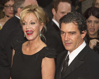 Melanie Griffith en Antonio Benderas in 64ste Tony Awards in 2010 Royalty-vrije Stock Foto's