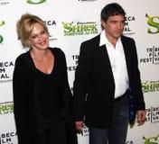 Melanie Griffith und Antonio Banderas Stockfotos