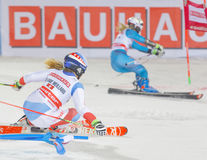 Melanie Meillard SUI and competitor in the parallel slalom dow Royalty Free Stock Image