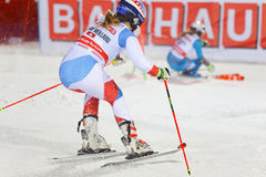 Melanie Meillard SUI and competitor in the parallel slalom dow Stock Images