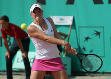 Melanie OUDIN (USA) at Roland Garros 2010 Royalty Free Stock Photo