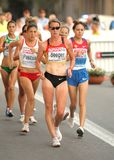 Melanie Seeger of Germany. During Women 20km Walk Final of the 20th European Athletics Championships at the Parc de la Ciutadella on July 28, 2010 in Barcelona Royalty Free Stock Image