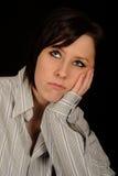 melankolisk kvinna Fotografering för Bildbyråer