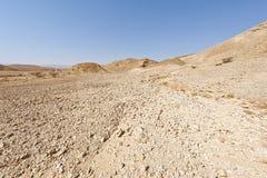 Melankoliskt och tomhet av öknen i Israel royaltyfria foton
