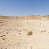 Melankoliskt och tomhet av öknen i Israel royaltyfri foto