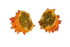 Melano, Kiwano, or Horned Melon Fruit Royalty Free Stock Photography