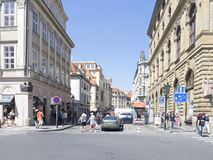 Melantrichova Street, Prague Stock Images
