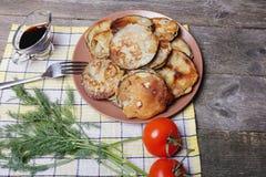 Melanzana in pastella Immagini Stock