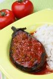 Melanzana riempita con carne e la verdura Fotografie Stock Libere da Diritti