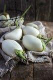 Melanzane bianche organiche fresche Immagini Stock Libere da Diritti