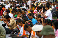 Melasti庆祝在印度尼西亚 库存照片