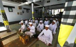 Melasti仪式在Klaten 免版税库存照片