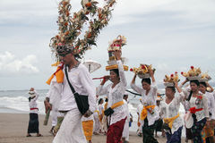 Melasti Bali. Melasti is of incredible importance to the annual and sometimes more rites of the Balinese Hindu. During this ceremony, lines and lines of local stock images