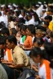 Melasti-Feier in Indonesien Stockfotografie
