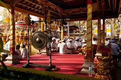 Melasti Ritual auf Bali Stockbild