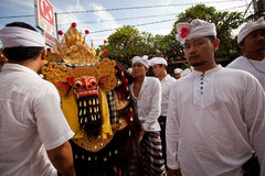 Melasti Ritual on Bali Royalty Free Stock Photos