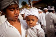 Melasti Ritual on Bali Stock Image