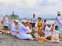 Melasti ritual - dag av tystnad Arkivbilder