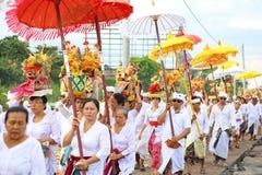 Melasti ritual - dag av tystnad Royaltyfri Foto