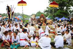 Melasti Ritual -Day of Silence Stock Images