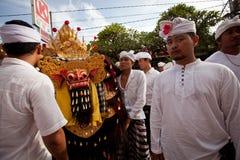 Melasti ritual på Bali Royaltyfria Foton