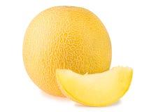 Melata e fetta del melone fotografia stock