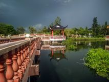 Melati See in Kangar, Perlis lizenzfreies stockbild