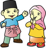 Melayu dzieci w Patani 02 Ilustracji