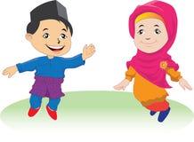 Melayu-Kinder in Patani 01 Stockfotos
