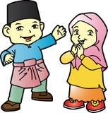 Melayu-Kinder in Patani 02 Stockfoto